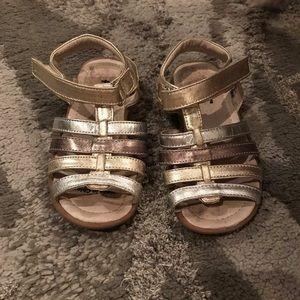 See Kai Run Keli Sandal; Gold; Size 9
